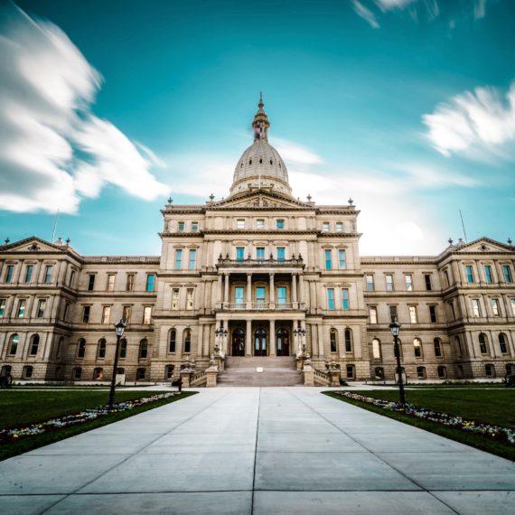 Michigan State Capitol Building in Lansing, Michigan