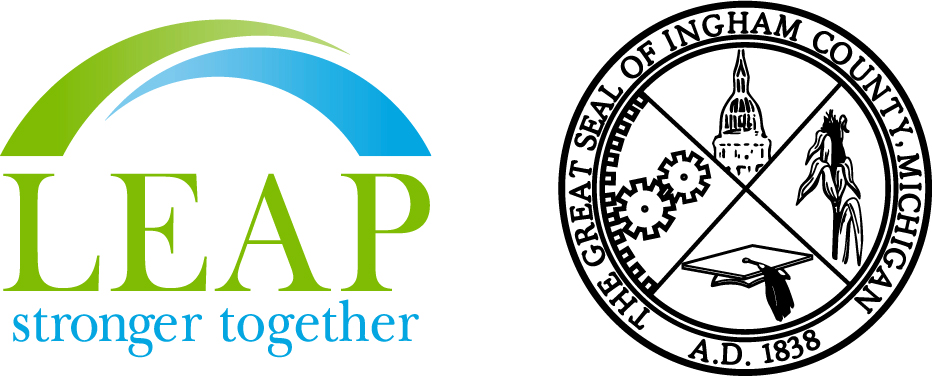 Ingham County Seal and LEAP Logo for visual interest