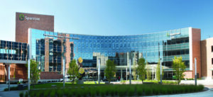 Image of the Herbert-Herman Cancer Center to add context to the narrative.